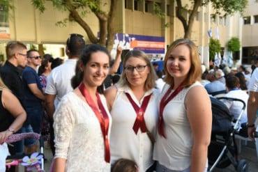 3 סטודנטיות בטקס סיום